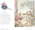 The Three Little Pigs, by Roald Dahl. Framed, £159